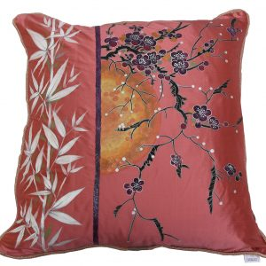 Blossoms and Bamboo - Large cushion