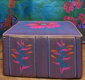 Exotica ( Large floral) Ottoman